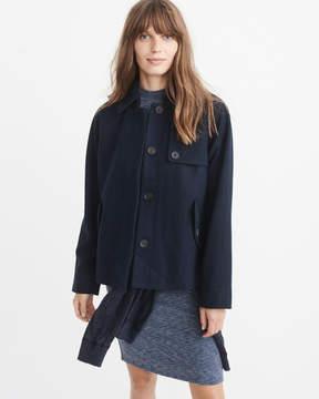 Abercrombie & Fitch Wool-Blend Swing Coat