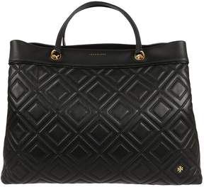 Tory Burch Fleming Center Zipped Tote - NERO - STYLE