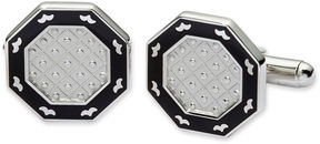Asstd National Brand Black Enamel Octagonal Cuff Links