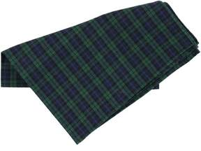 Tommy Hilfiger Mens Plaid Pocket Square Green One Size