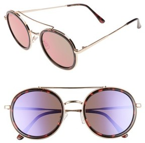 Sam Edelman Women's 50Mm Round Aviator Sunglasses - Gold