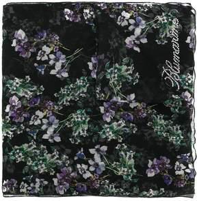 Blumarine floral print sheer scarf