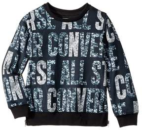 Converse All Over Printed Pullover Girl's Sweatshirt
