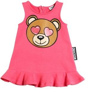 Moschino Bear Printed Cotton Dress