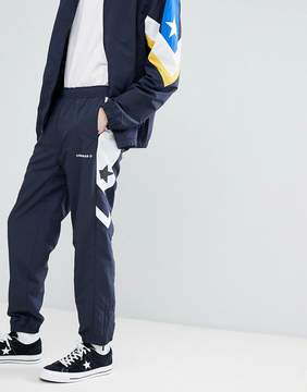 Converse Color Block Joggers In Navy 10006474-A02