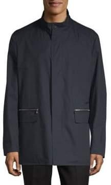 Corneliani Caban Long-Sleeve Coat