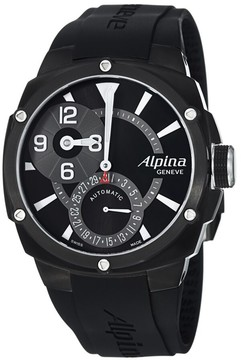 Alpina Adventure Black Dial Automatic Rubber Bracelet Men's Watch
