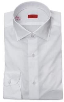 Isaia Men's White Cotton Shirt.