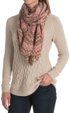 La Fiorentina Wool and Cashmere Blend Wrap (For Women)