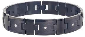 Armani Exchange Jewelry Mens Black Tungsten Diamond Bracelet (0.10 Carats, Hi I2).