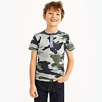 J.Crew Factory Boys' short-sleeve camo print henley shirt