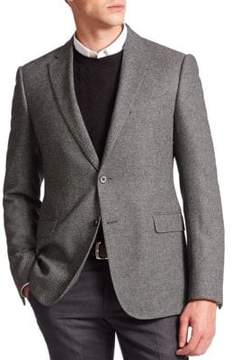 Armani Collezioni Dot Wool-Blend Sportcoat