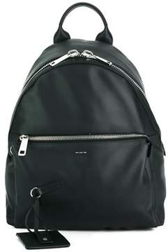Fendi Men's Black Leather Backpack.