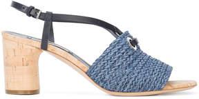 Casadei woven slingback sandals
