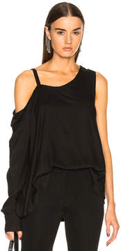 Ann Demeulemeester One Sleeve Cold Shoulder Top