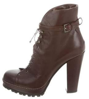 Alaia Lace-Up Platform Ankle Boots