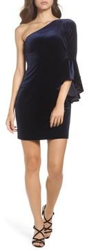 Chelsea28 Women's One-Shoulder Velvet Dress