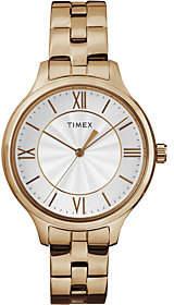 Timex Women's Peyton Rosetone Stainless Steel Bracelet Watch