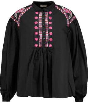 Temperley London Fable Embroidered Cotton Blouse
