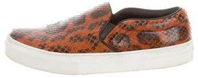 Celine Snakeskin Slip-On Sneakers