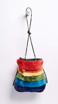 Les Petits Joueurs Trilly Rainbow Fur Bag