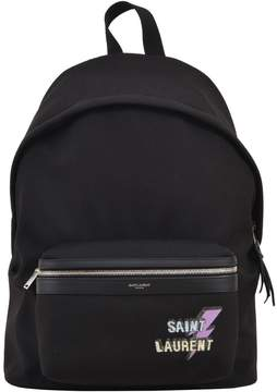 Saint Laurent Lightning Bolt Backpack