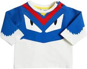 Monster Printed Cotton Jersey T-Shirt