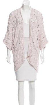 Calypso Wool-Blend Open Knit Cardigan
