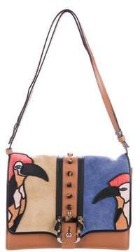 Paula Cademartori Bird-Embroidered Tatiana Crossbody Bag