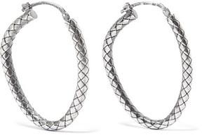 Bottega Veneta Oxidized Sterling Silver Hoop Earrings