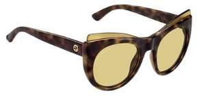 Gucci Havana Brown Cat Eye Sunglasses