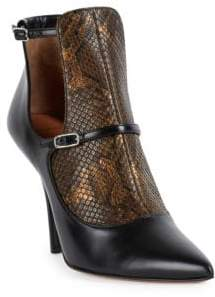 Givenchy New Feminine Line Python& Leather Cutout Booties