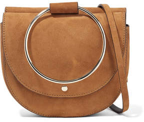 Theory Whitney Suede Shoulder Bag - Tan