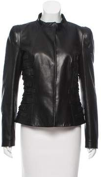 Gianfranco Ferre Structured Leather Jacket