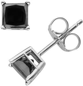 Black Diamond 10k White Gold 1-ct. T.W. Solitaire Earrings