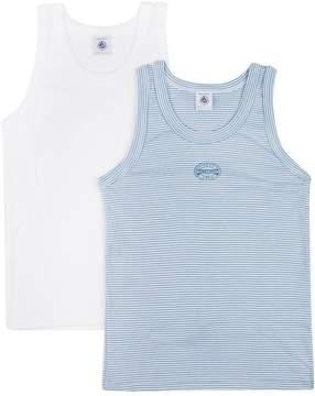 Petit Bateau Cotton Vest Two Pack