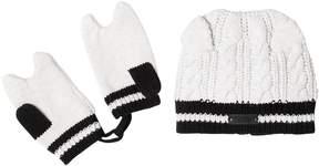 Karl Lagerfeld Tricot Cotton Hat & Mittens