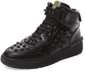 Valentino Garavani Men's Studded Leather Hi Top