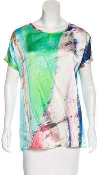 Tess Giberson Silk Short Sleeve Top