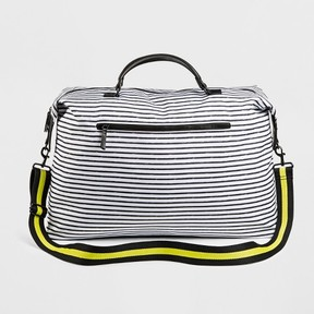 Mossimo Supply Co. Women's Striped Nylon Weekender Handbag - Mossimo Supply Co. Black/White