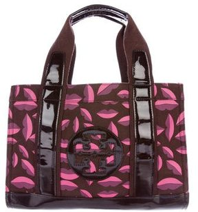 Tory Burch Leather-Trimmed Ella Tote - BROWN - STYLE