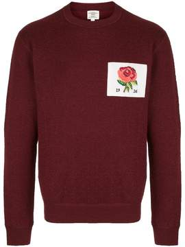 Kent & Curwen embroidered flower patch sweater