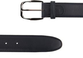 Brioni Textured Leather Buckle Belt Blue.