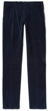 Boglioli Storm-Blue Slim-Fit Stretch-Cotton Corduroy Suit Trousers