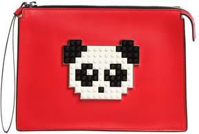 Les Petits Joueurs Panda Leather Pouch