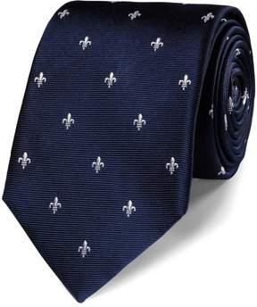 Charles Tyrwhitt Navy Silk Fleur-De-Lys Classic Tie