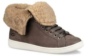 UGG Starlyn Gryle High-Top Sneakers with Fur