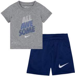 Nike Baby Boy All Awesome Graphic Tee & Shorts Set