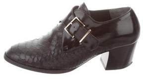 Robert Clergerie Embossed Leather Pumps