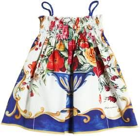 Dolce & Gabbana Maiolica Printed Cotton Poplin Dress